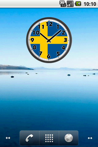 Sweden Clock