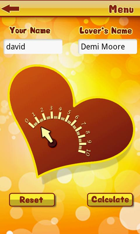 Love Meter- screenshot