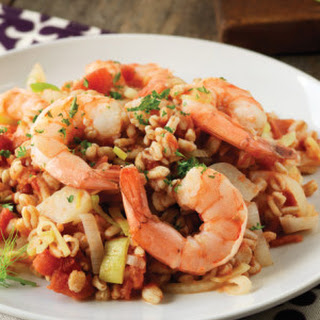 Farro, Shrimp & Tomato Risotto