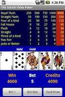 Screenshot of Free Old School Video Poker