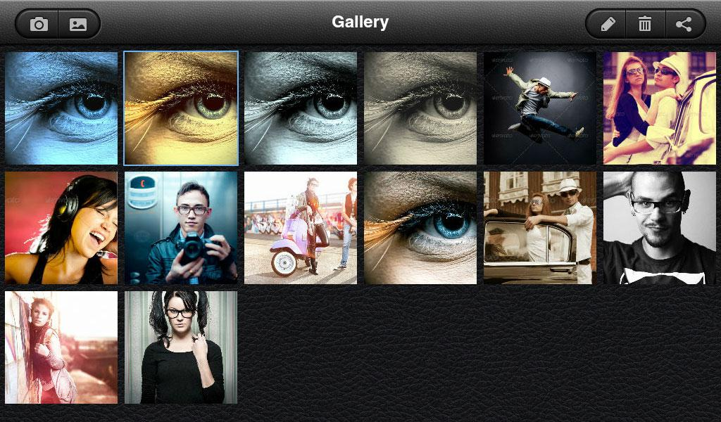 UberIris Photo Filters Tablets - screenshot