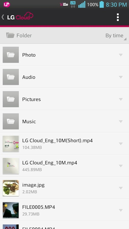 LG Cloud- screenshot