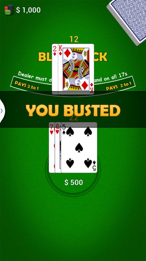 Play blackjack card game online free