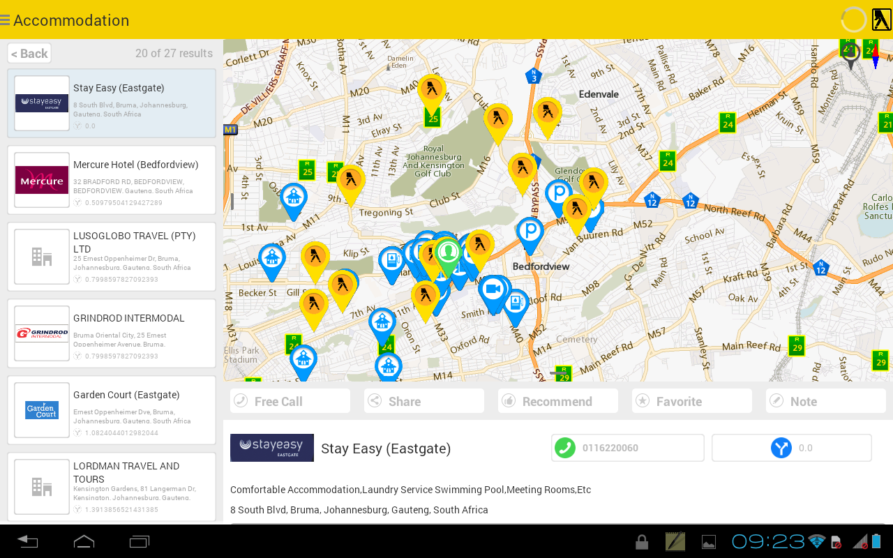 Yellow Pages SA - Maps, GPS... - screenshot