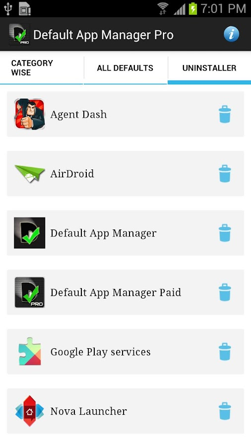 Default App Manager Pro - screenshot