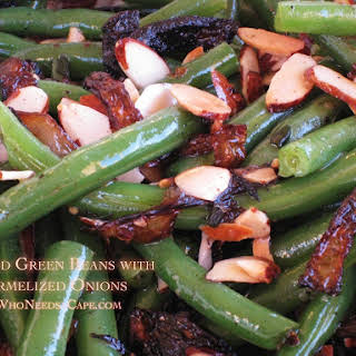 Almond Green Beans with Caramelized Onions.