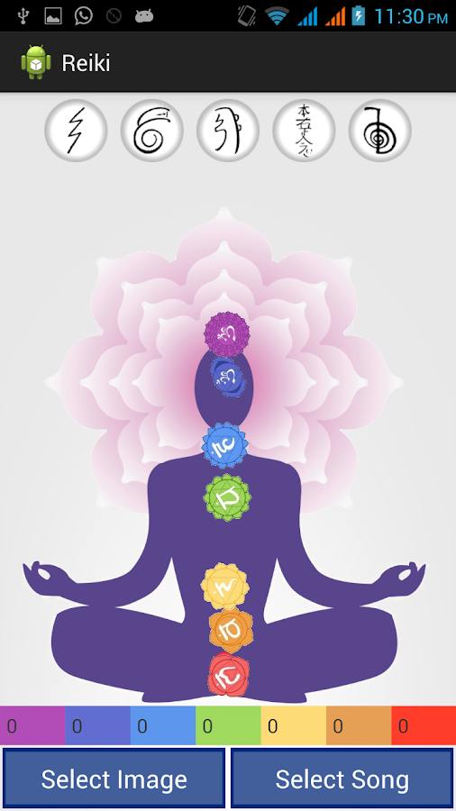 Chakra Meditation with Symbols- screenshot