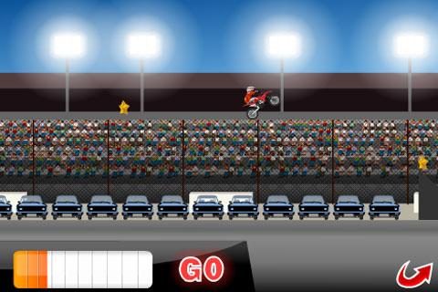 Long Jump Biker- screenshot