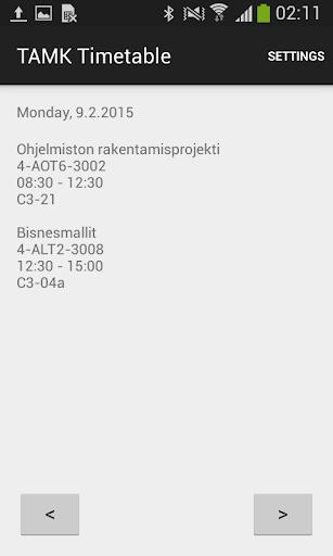 TAMK Timetable
