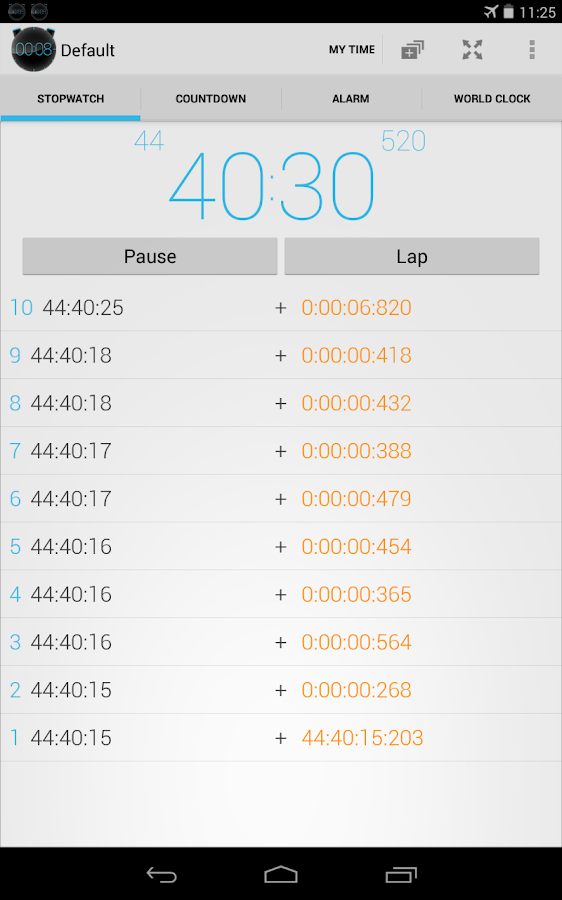 Stopwatch Timer Alarm Ad-free - screenshot