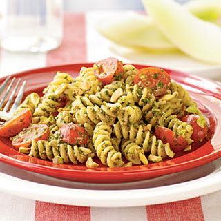 Fusilli with Pistachio Pesto.