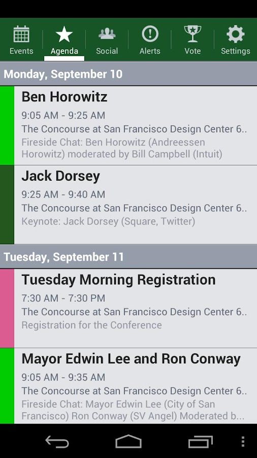 Disrupt SF 2012 - screenshot