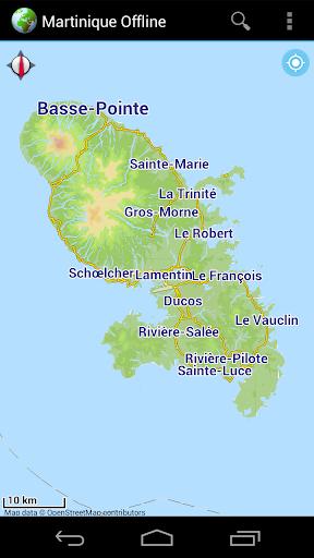 Offline Map Martinique France