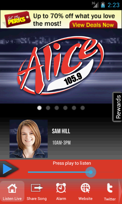 Alice 105.9 - screenshot