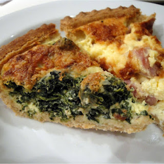 Spinach or Ham Quiche.