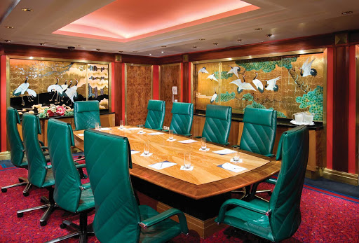 Norwegian Spirit's Boardroom is an elegant, Asian-inspired meeting room for brainstorming sessions and conferences.