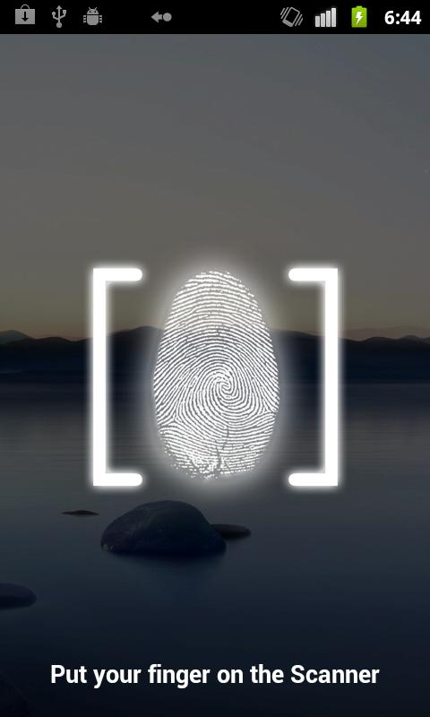 Fingerprint Lock Screen- screenshot