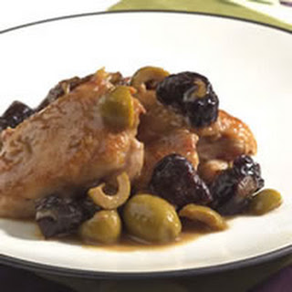 Chicken With Green Olives and Prunes.