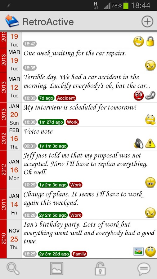 RetroActive - Personal Diary- screenshot