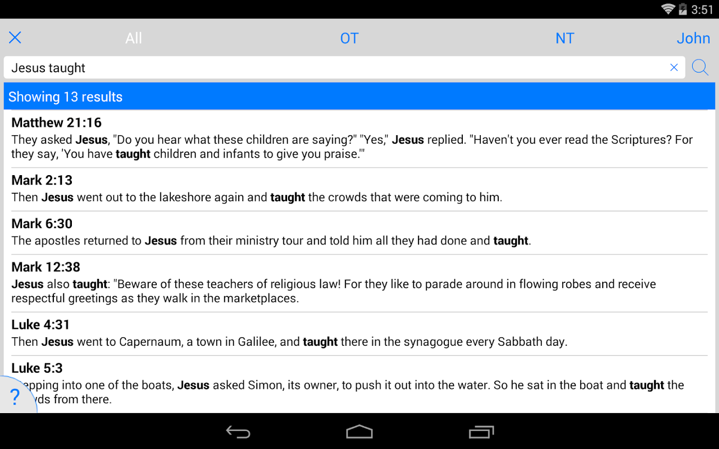 Life Application Study Bible- screenshot