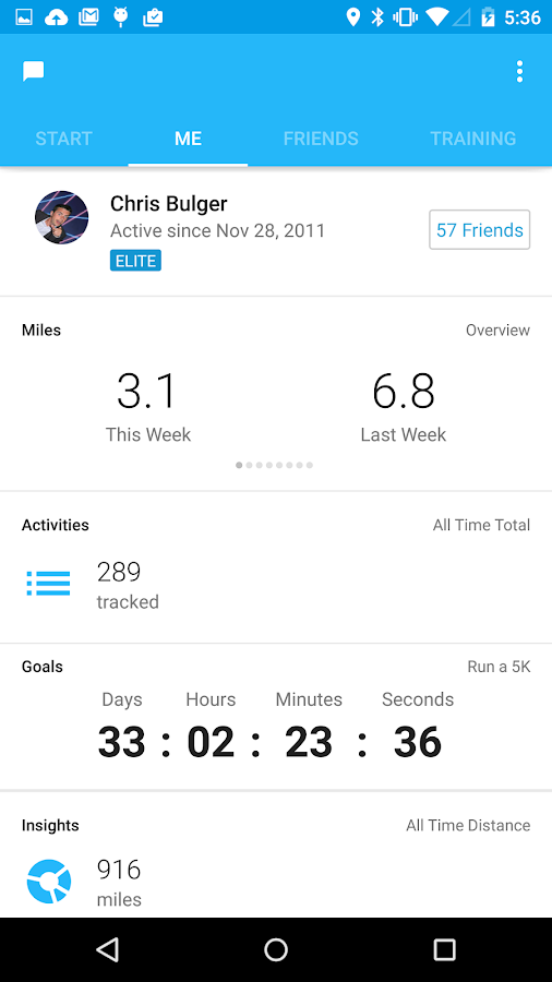 Runkeeper - GPS Track Run Walk- screenshot