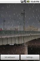 Screenshot of Rain 2 Live Wallpaper Demo