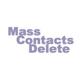 Mass Contacts Delete