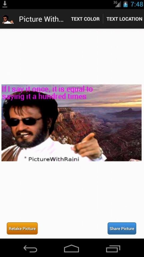 Picture With Rajni- screenshot