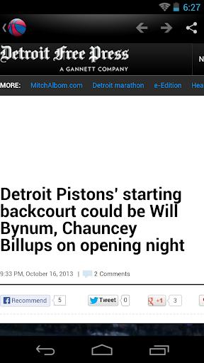 Detroit Basketball News for PC