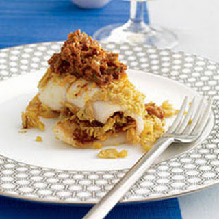 Tortilla-Stuffed Flounder