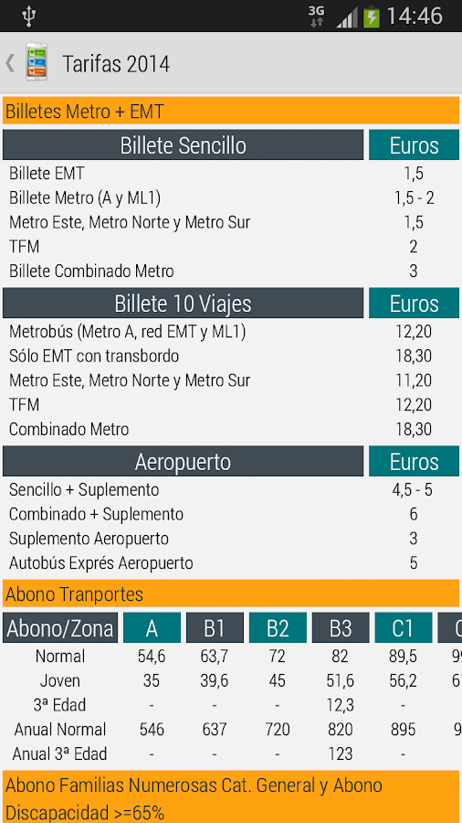 Madrid Metro|Bus|Cercanias: captura de pantalla