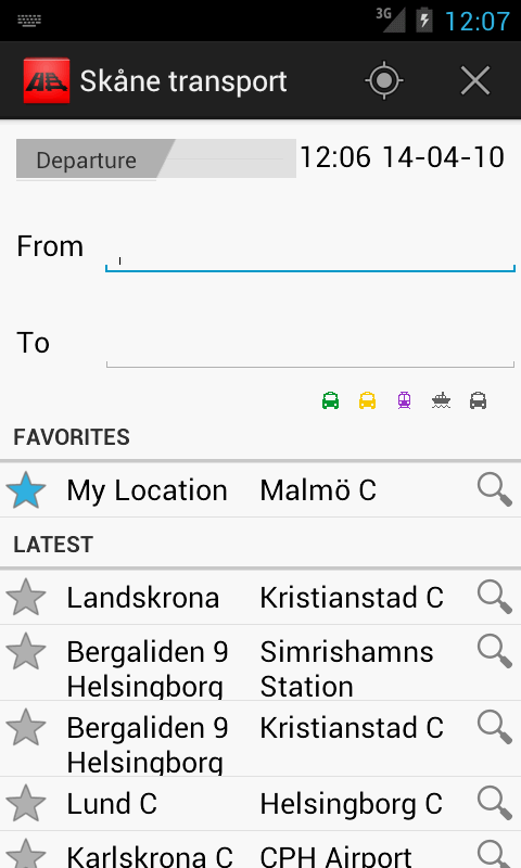 Skåne transport- screenshot