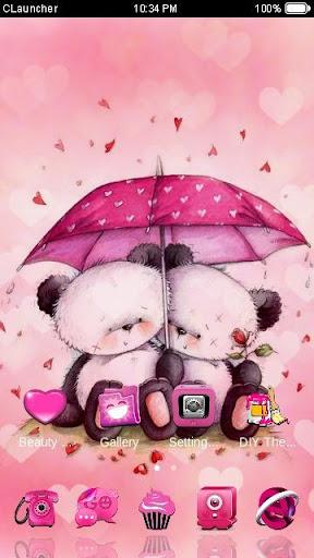 【免費個人化App】'粉愛小熊'手機主題——暢遊桌面-APP點子