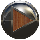 poweramp skin metal brown wood icon