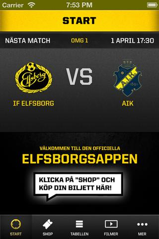 IF Elfsborg - screenshot