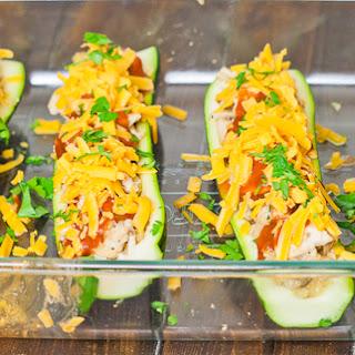 Chicken Enchilada Stuffed Zucchini