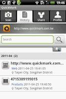 Screenshot of QuickMark Lite QR Code Reader