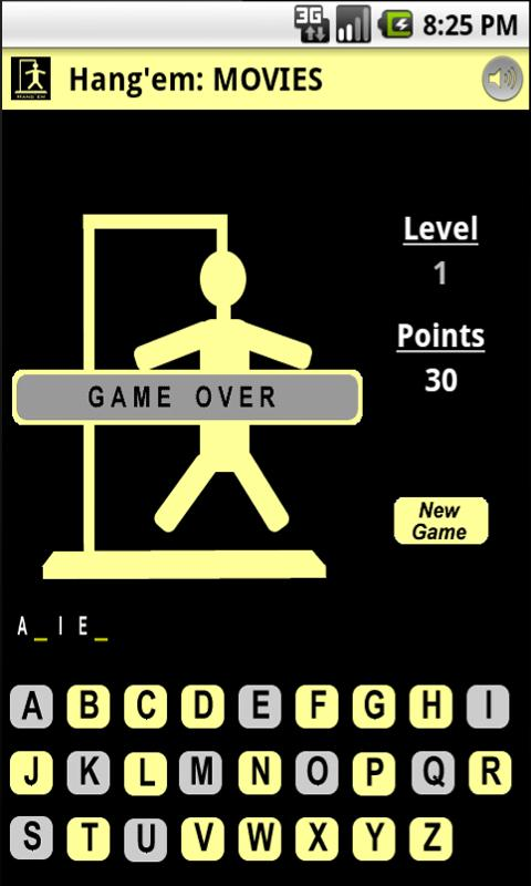 Hang'em (Hangman) - screenshot