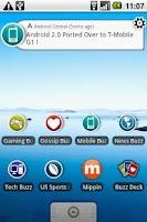 Screenshot of Mobile Buzz Widget