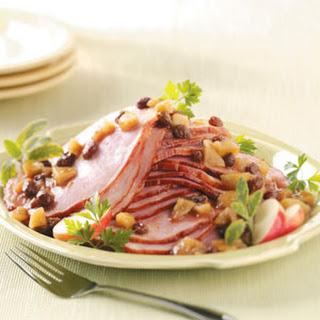 Ham with Apple Raisin Sauce Recipe