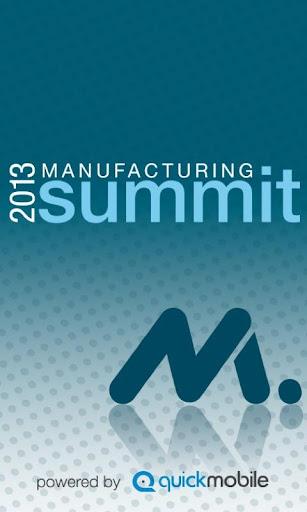 2013 NAM Manufacturing Summit