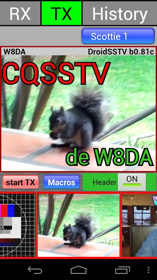 DroidSSTV - SSTV for Ham Radio- screenshot