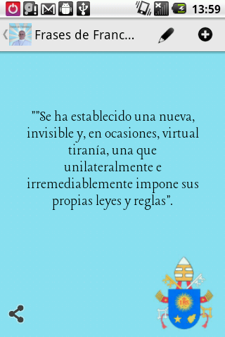 Frases del Papa Francisco - screenshot
