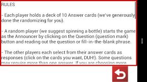 Screenshot of Horrible Cards