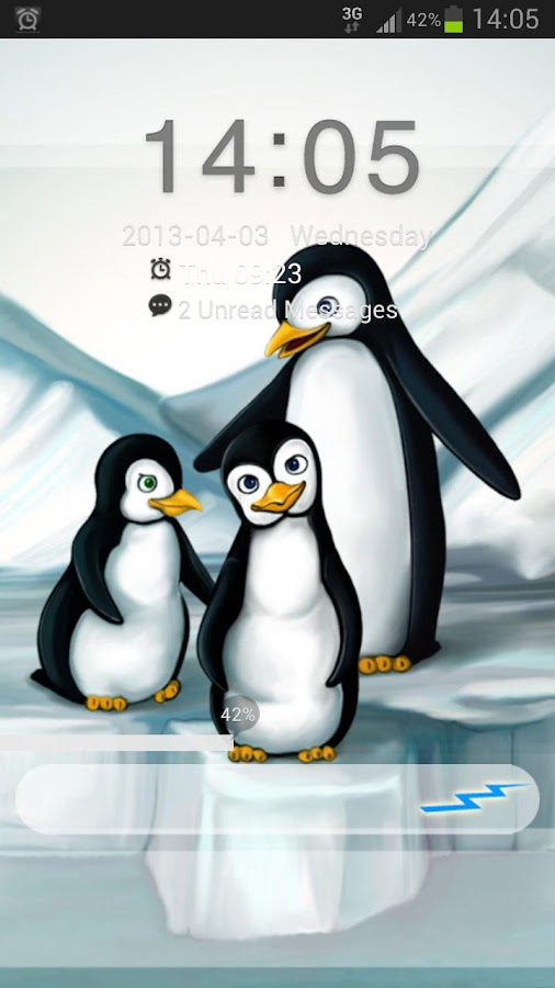 GO Locker Theme penguins - screenshot