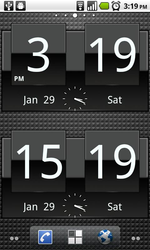 FlipClock ADW1 White 4x2 - screenshot