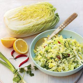 Spicy Shredded Napa Cabbage Salad.