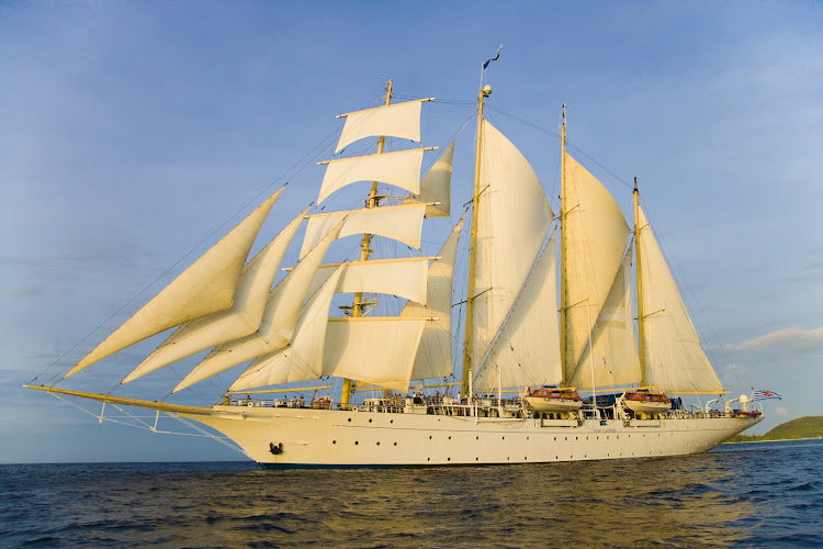 Sail the seas in style aboard the tall ship Star Clipper.