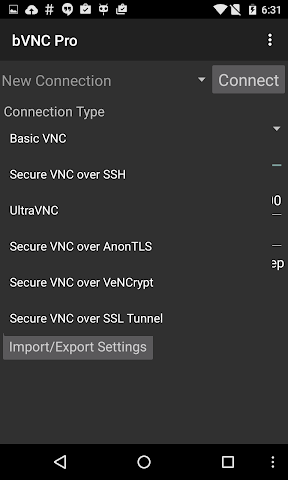 android bVNC Pro: Secure VNC Viewer Screenshot 2