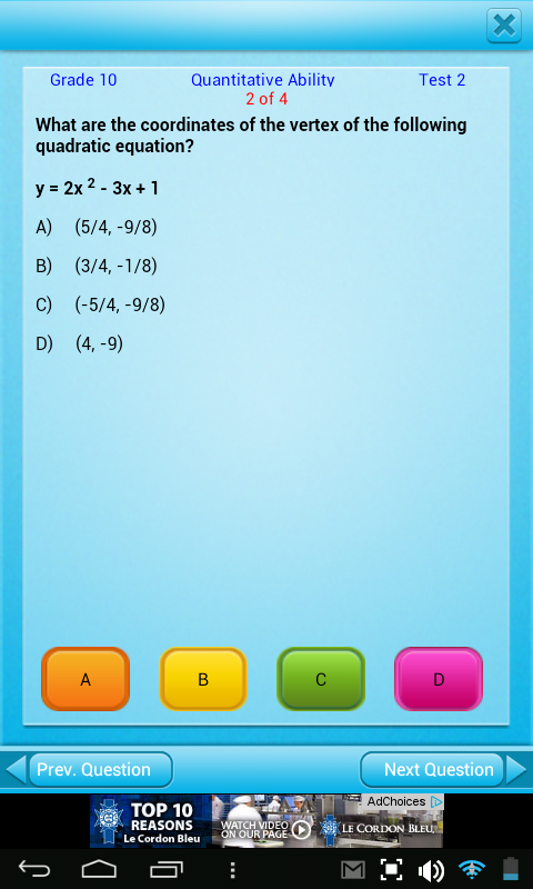 Free 10th Grade Math English- screenshot